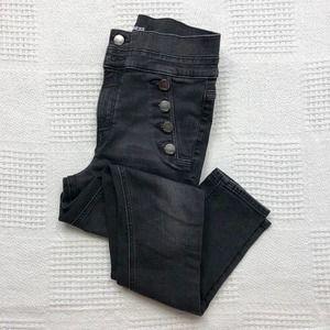 EXPRESS Black Ankle Legging Super High Rise Jeans